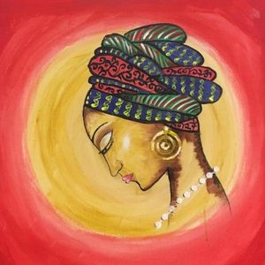 African Girl with Head scarf