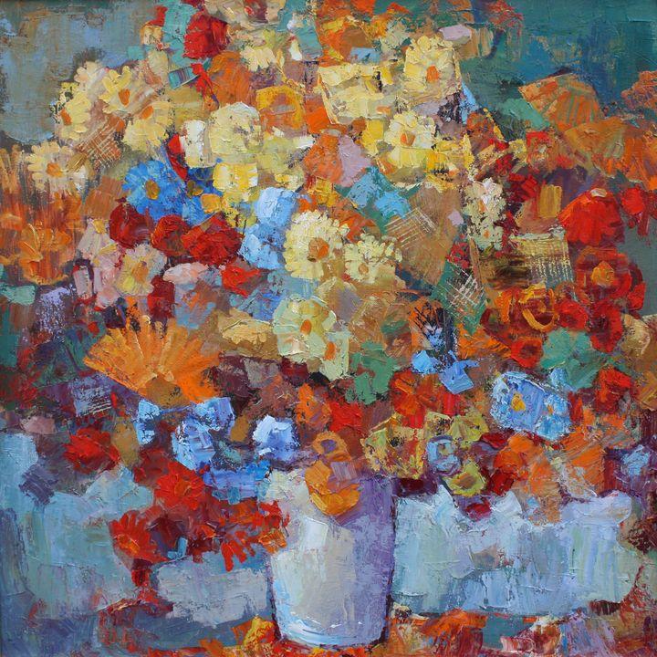 Autumn flowers - Levkoart
