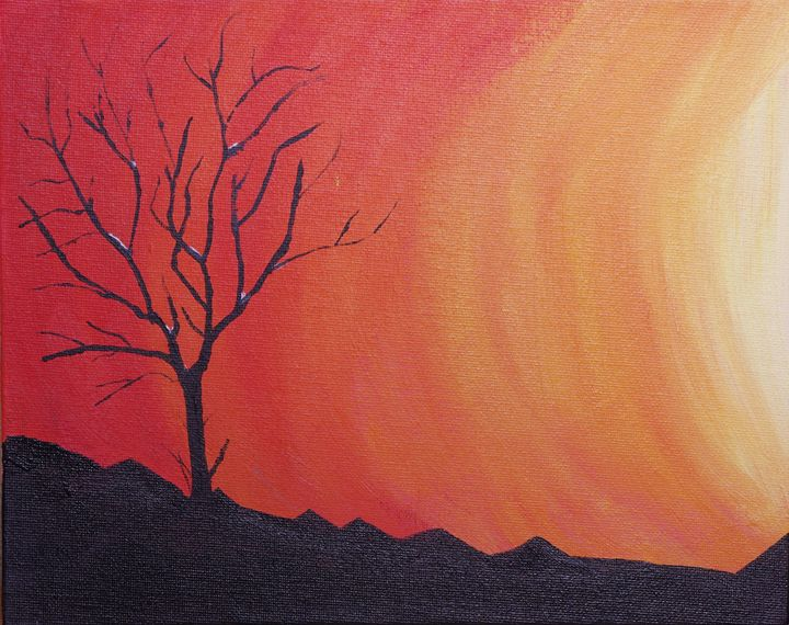 Sunset with Bare Tree - Sean Williams' Photography