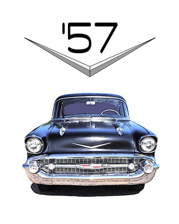 1957 chevy with Chromework Logo - Sean Williams' Photography