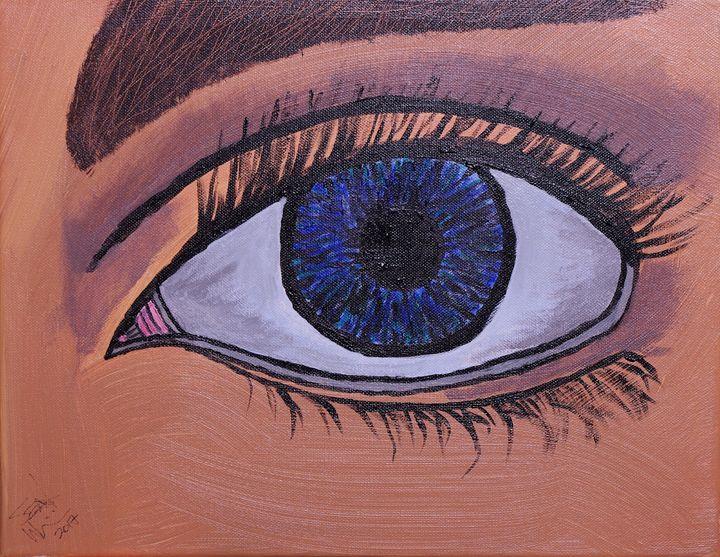 Blue Female Eye - Sean Williams' Photography