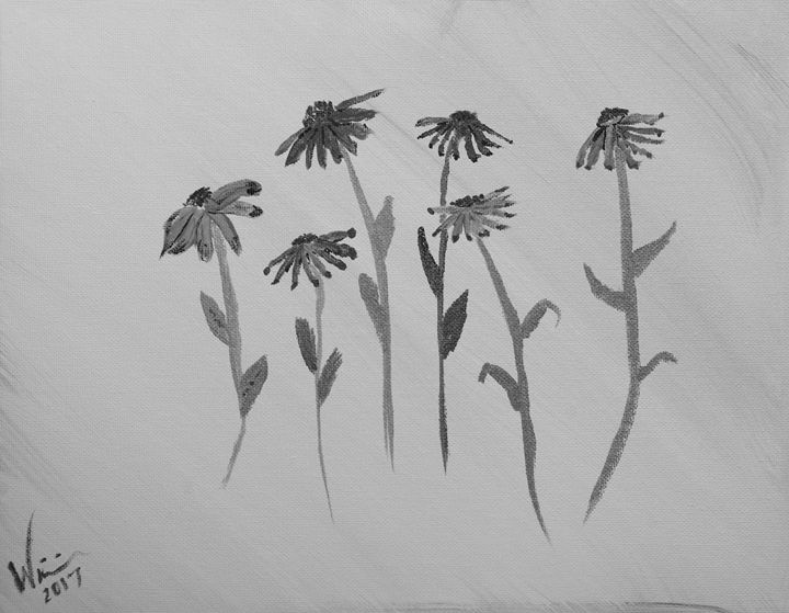 Monochrome - Pressed Flowers 11 x 14 - Sean Williams' Photography