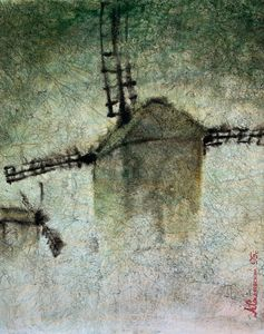 Windmills in the fog. 1983 - Alex Sokol