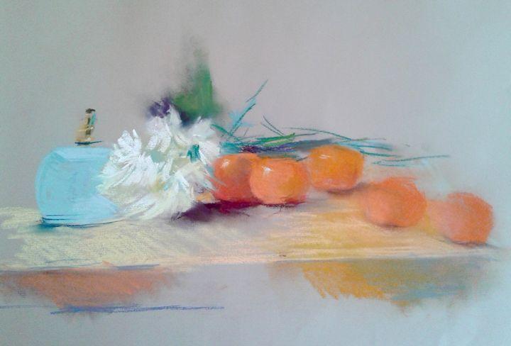 Oranges with light blue - Roniyana