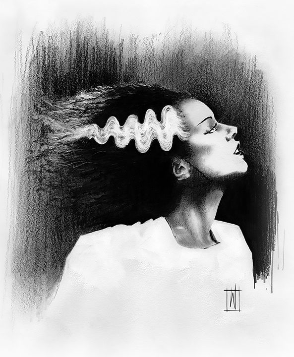 Bride of Frankenstein - Dru Woodard ::: Illustrator