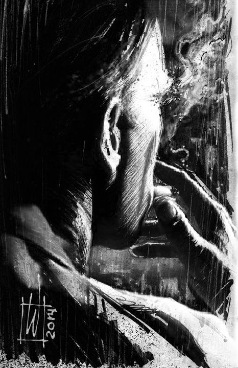 Smoking Man - Dru Woodard ::: Illustrator