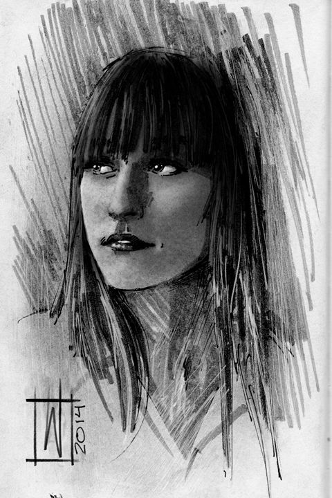 Pensive Girl - Dru Woodard ::: Illustrator
