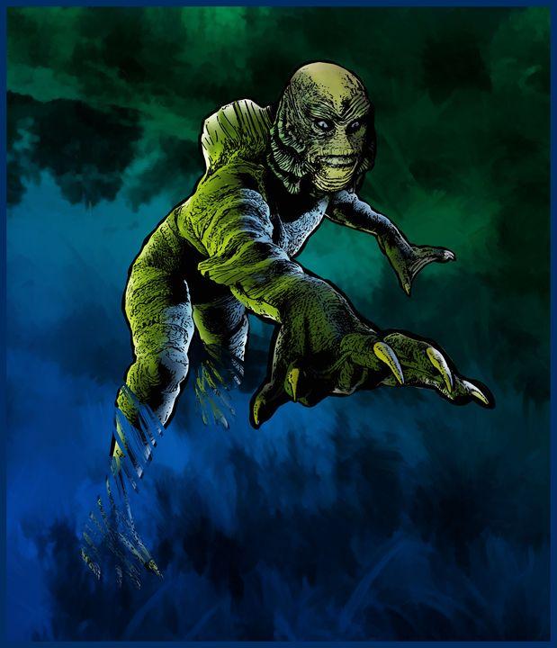 Creature From The Black Lagoon - Dru Woodard ::: Illustrator