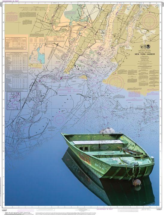 New York Harbor - ChartArt