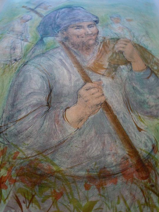 """Man With A Hoe"" - original art"