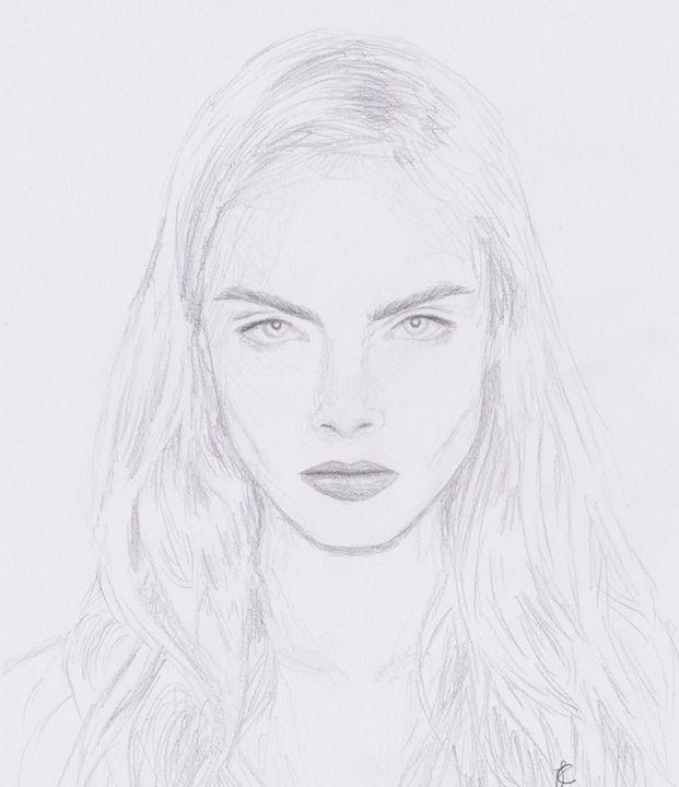 Cara Delevigne - JC Art