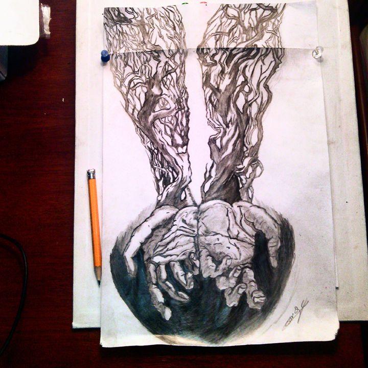 veins of wood - Cesar golindano