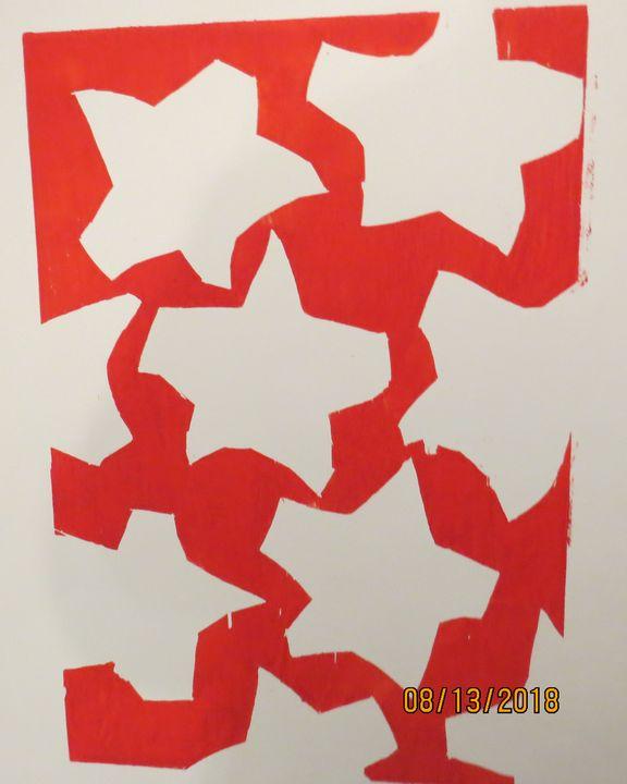 Red Sky, White Stars - McInerney Artist,  ( Bill McInerney)