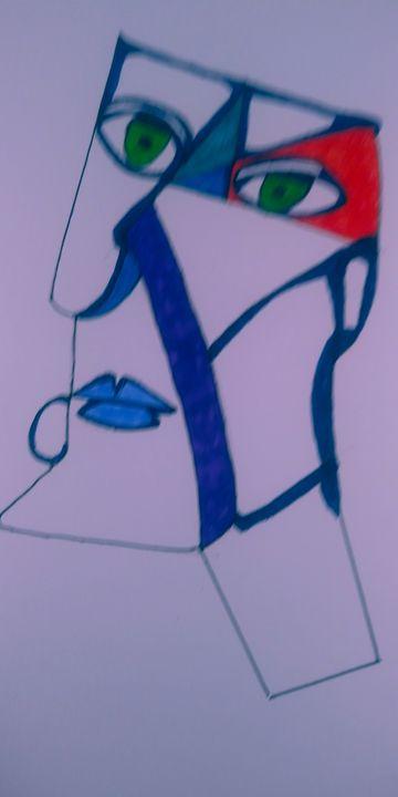 Blue Lips - McInerney Artist,  ( Bill McInerney)