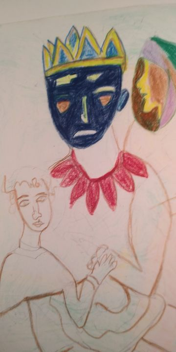 Mask of Pretend King - McInerney Artist,  ( Bill McInerney)