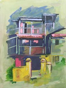 Abstract scenery painting