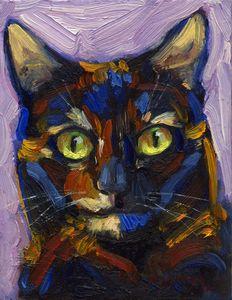 """Snickerdoodle"" - A Tortie Cat - Poppenga"
