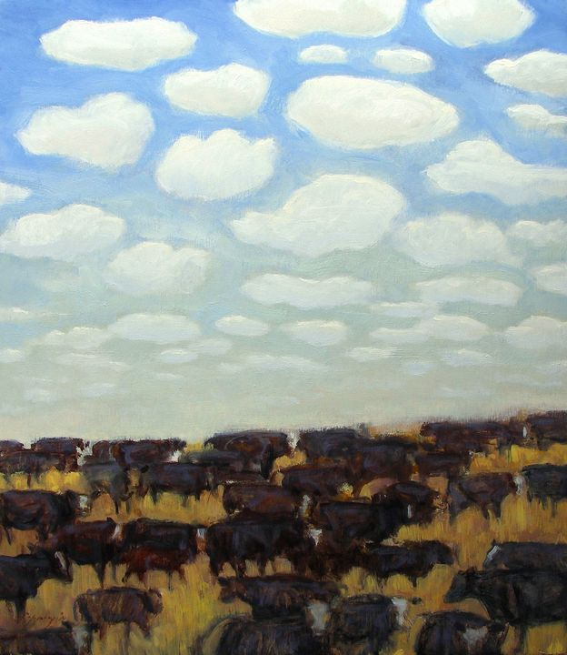 """Herds of Cows and Clouds"" - Poppenga"