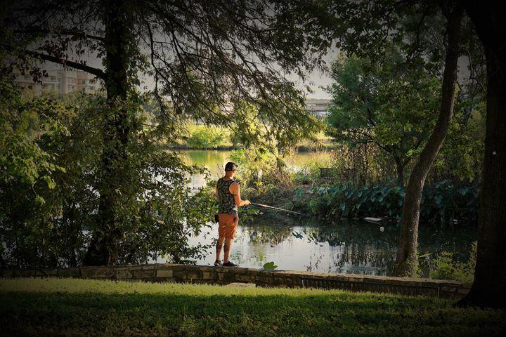 Fishing Lady Bird - Photography by Larry Landaker