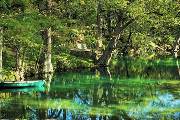 Blue Canoe - Photography by Larry Landaker
