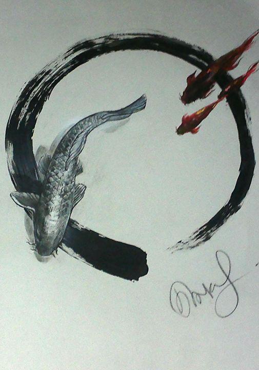 Koi & Zen circle - Art12
