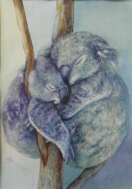 A warm hug for a rainy day! - Gabriela's painting world