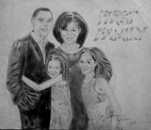 """First Family"" Pencil Portrait"