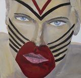 acrylic on canvas Model like a Indio