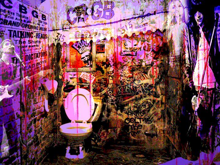 CBGB's Bathroom - My Music Art
