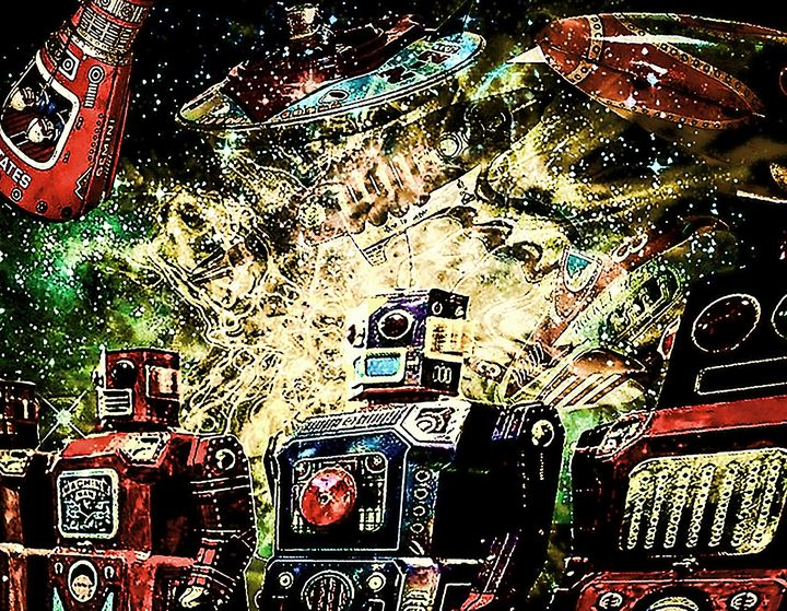 Robots from the Toy Box - My Music Art