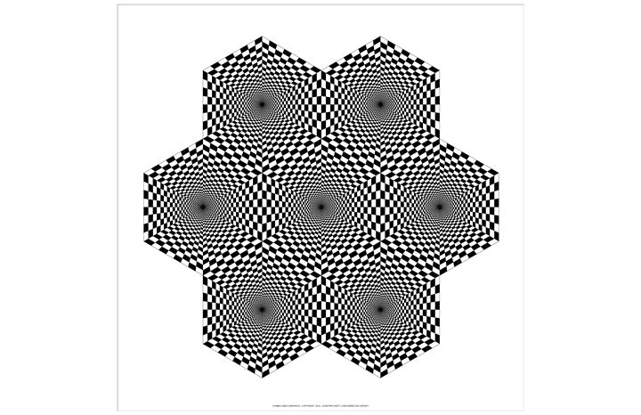 """Checkered Hex Infinity"" - SYMMO GRAPHICS"