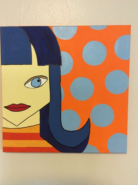 Retro Flip Girl - Lisa Phillips Art