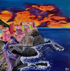 Cinque Terre at Sunset