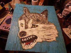 Matchstick painting