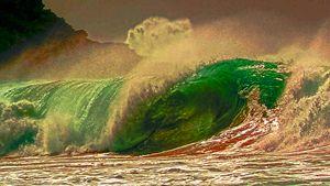 rolling the ocean