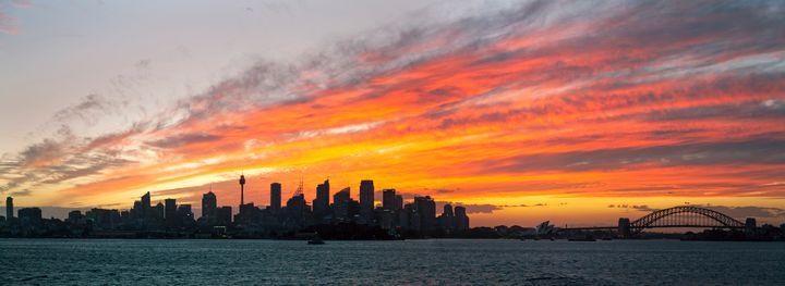 sunset Sydney harbour - A Vision