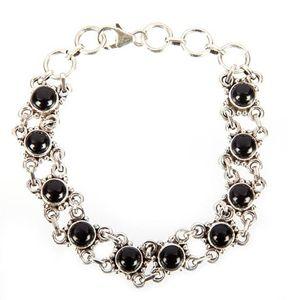 Sterling Silver Black Onyx Bracelet - Midas Craft