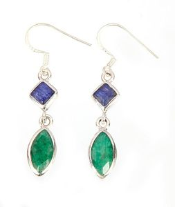 Sterling Silver Emerald Earrings - Midas Craft