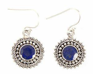 Sterling Silver Lapis Lazuli Earring - Midas Craft