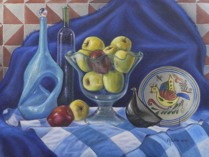 Apples in blue. - A Odilón