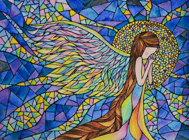 Angel in the moonlight - junelovespainting