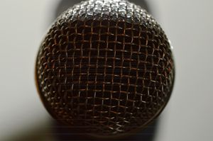 Microphone Close Up - Timeless Art On Canvas