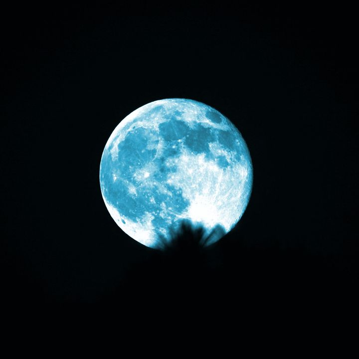 The Blue Moon - Timeless Art On Canvas