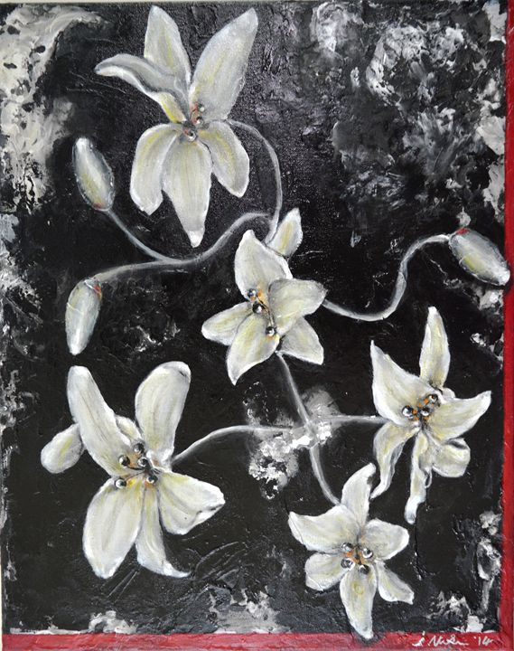 Ghostly Lilies - Timeless Art On Canvas