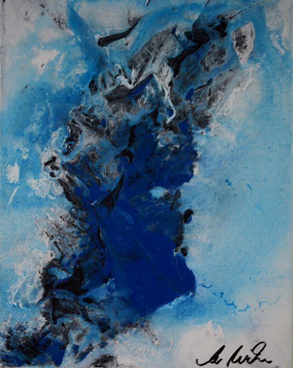 A Splash Of Blue No.1 - Timeless Art On Canvas