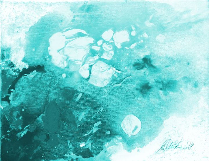 Digitally Enhanced - Teal - Timeless Art On Canvas