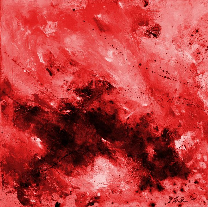 Red Dark Abstract - Timeless Art On Canvas