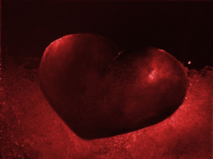 Red Heart - Timeless Art On Canvas