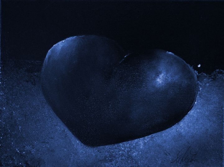 Blue Heart - Timeless Art On Canvas