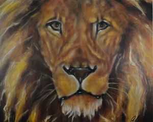 Cecil The Aftrican Lion - Timeless Art On Canvas